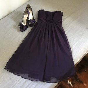 After Six Concord Purple Strapless Dress 6575